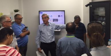 Delegates in Living Lab